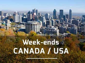 Week ends et escapades aux USA